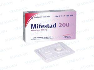 Uống mifestad 200 bao lâu thì ra máu